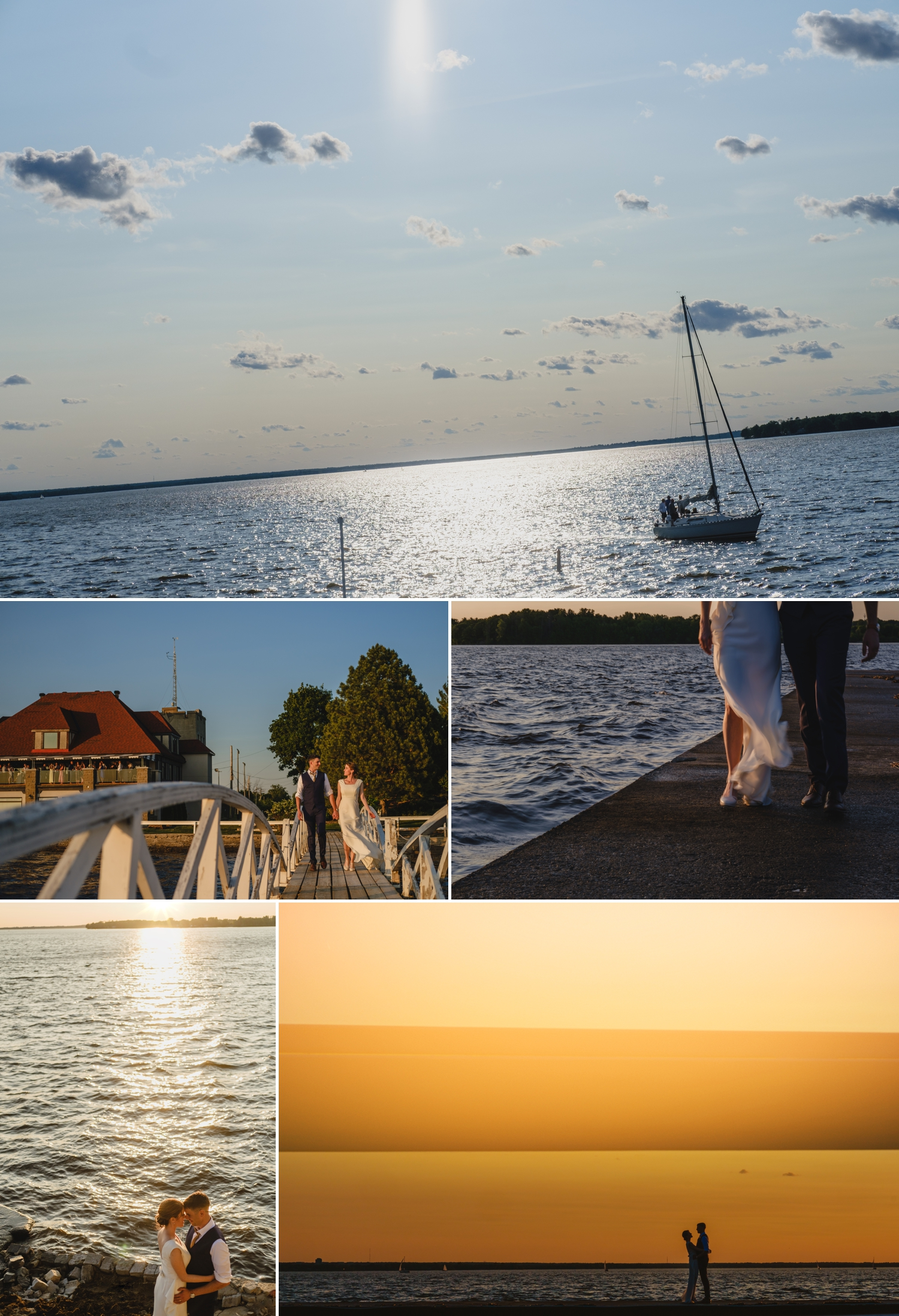 bride and groom photos on the ottawa river during a wedding at the britannia yacht club in ottawa ontario