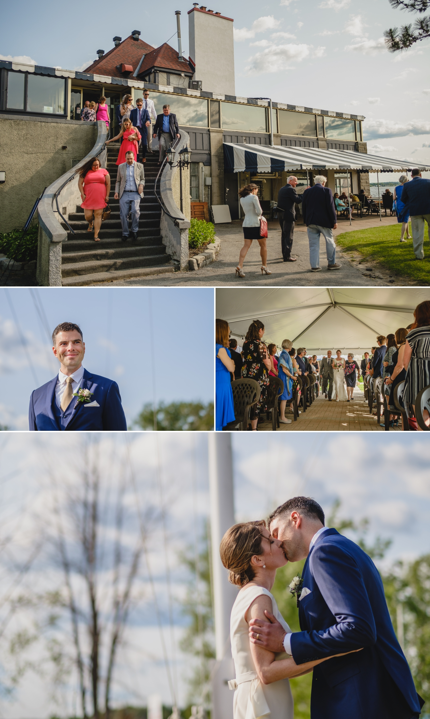 candid moments during a wedding ceremony at the britannia yacht club in ottawa ontario