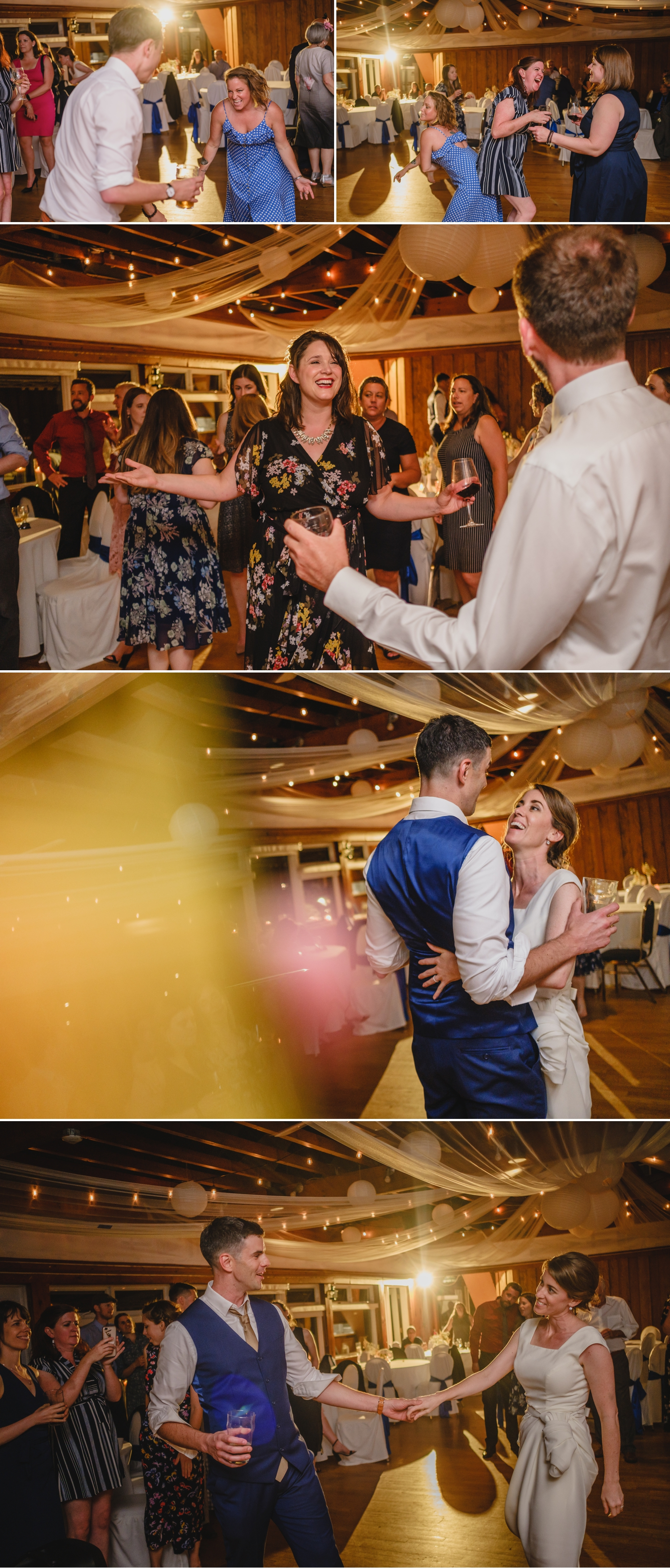candid dance floor moments during a wedding reception at the britannia yacht club in ottawa ontario