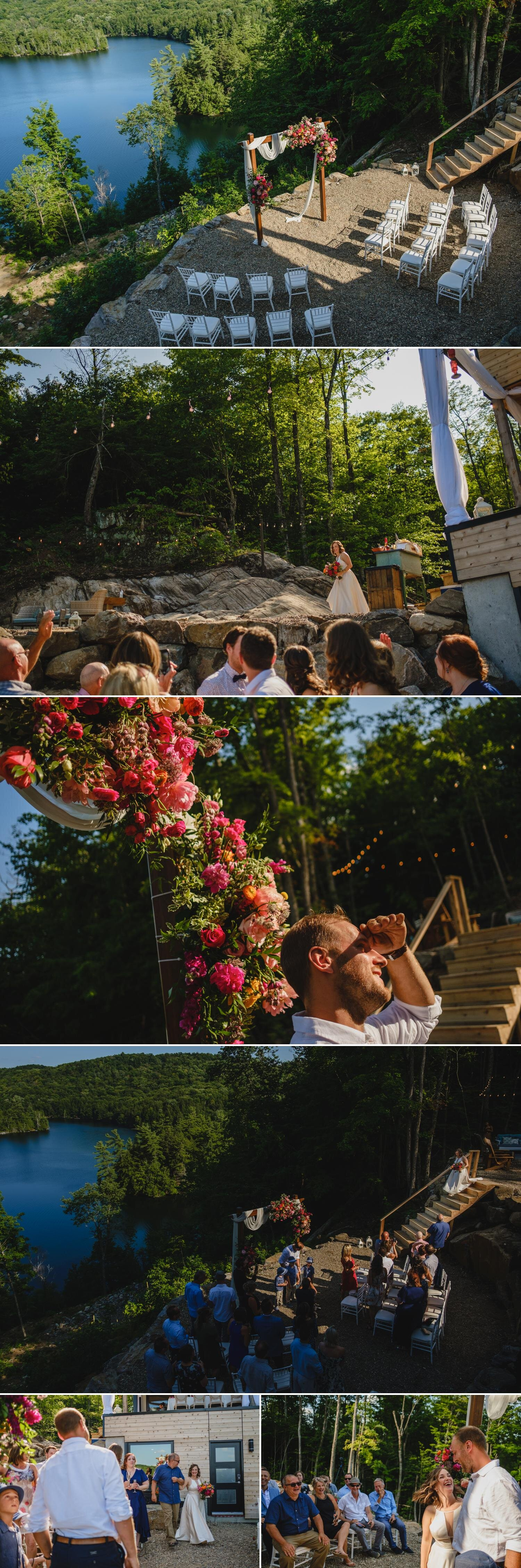 photos of a beautiful outdoor ceremony site in ottawa