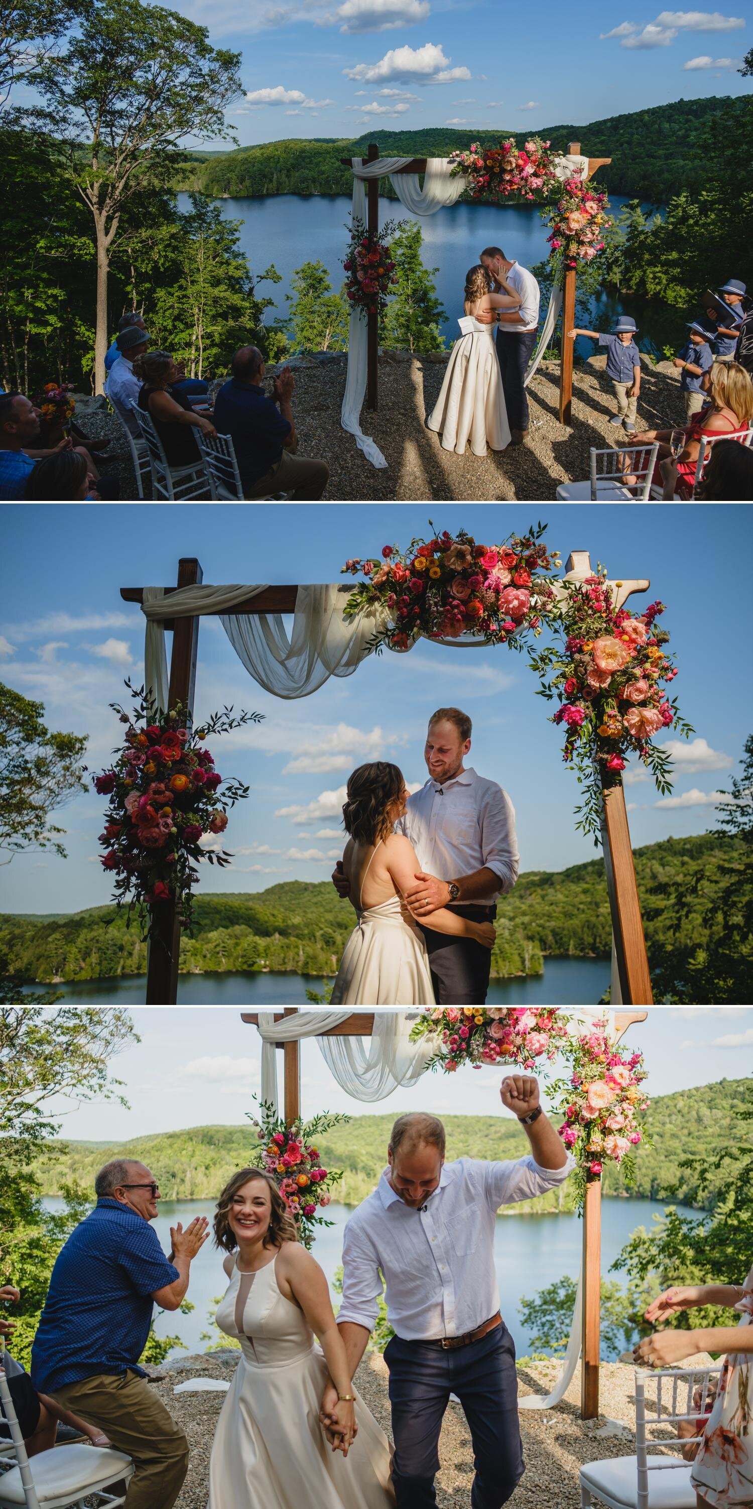 outdoor private residence wedding ceremony photos