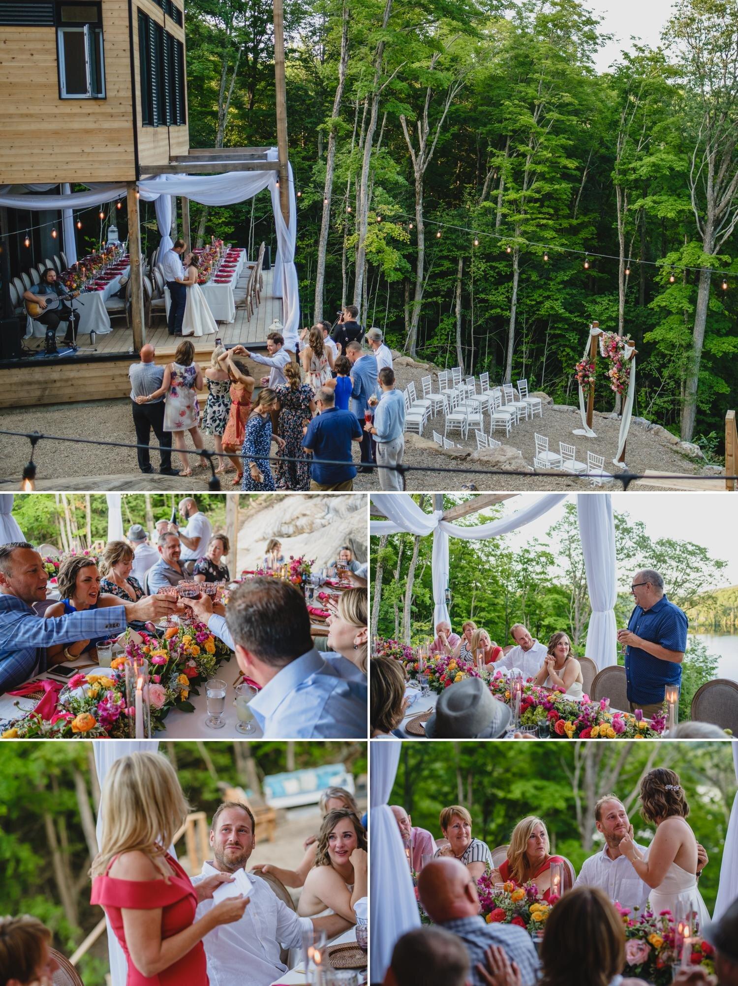 outdoor wedding reception photos