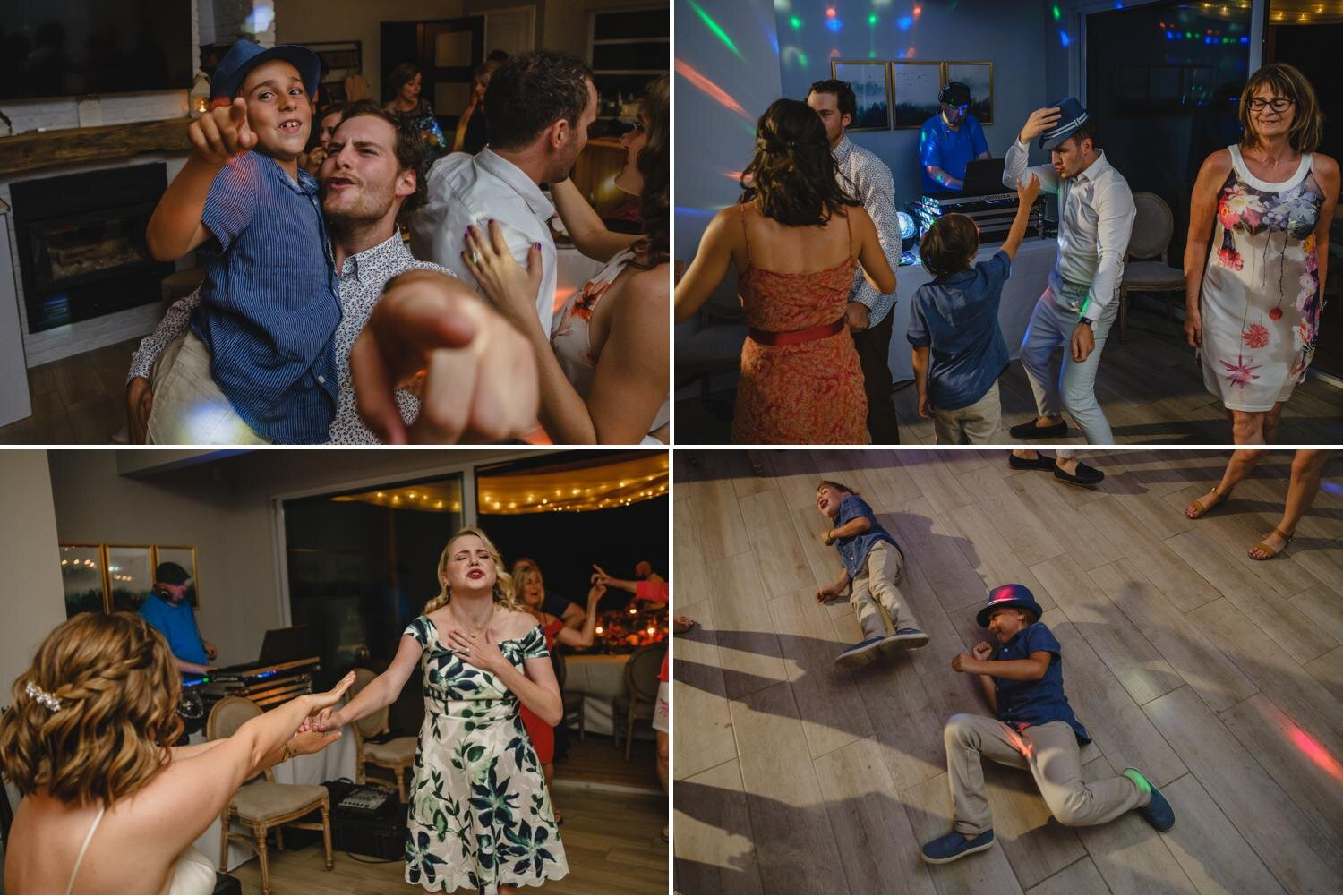 photos of dancing at a private residence wedding