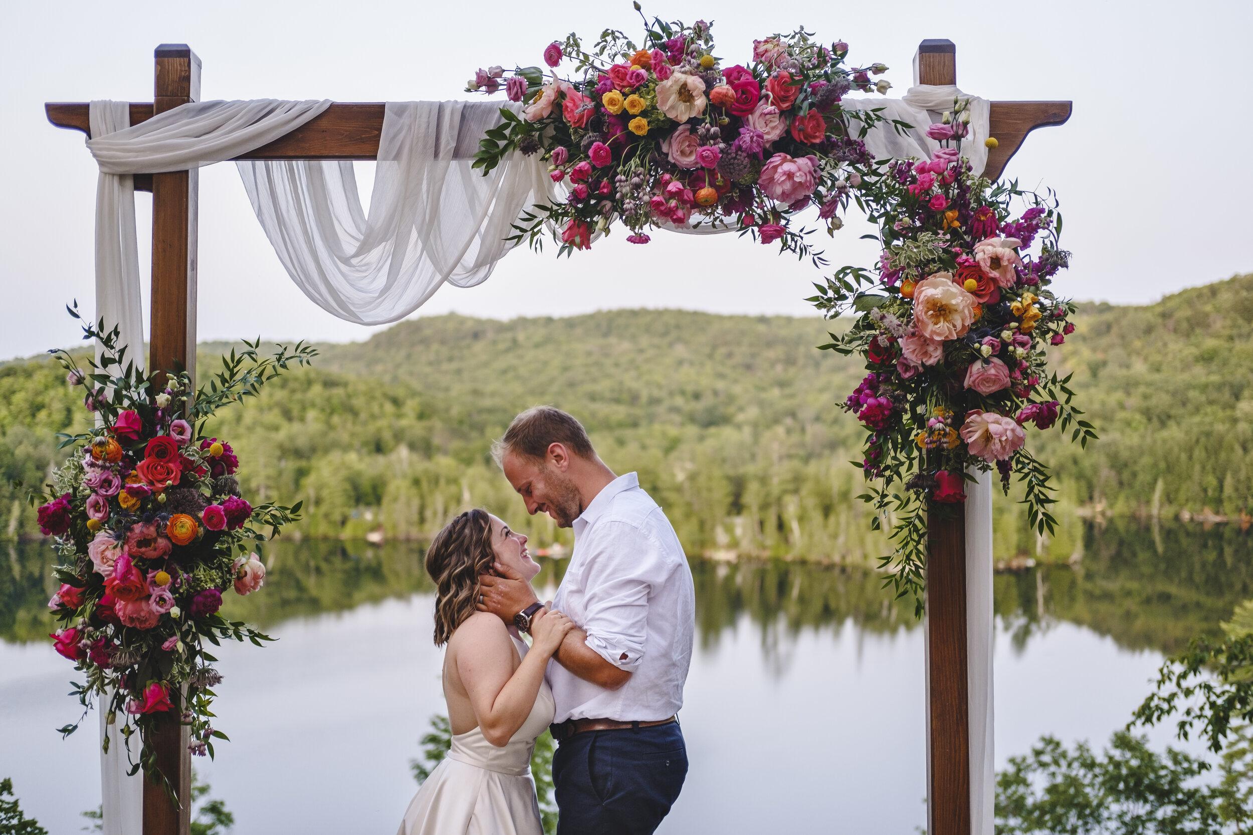 outdoor wedding ceremony photograph