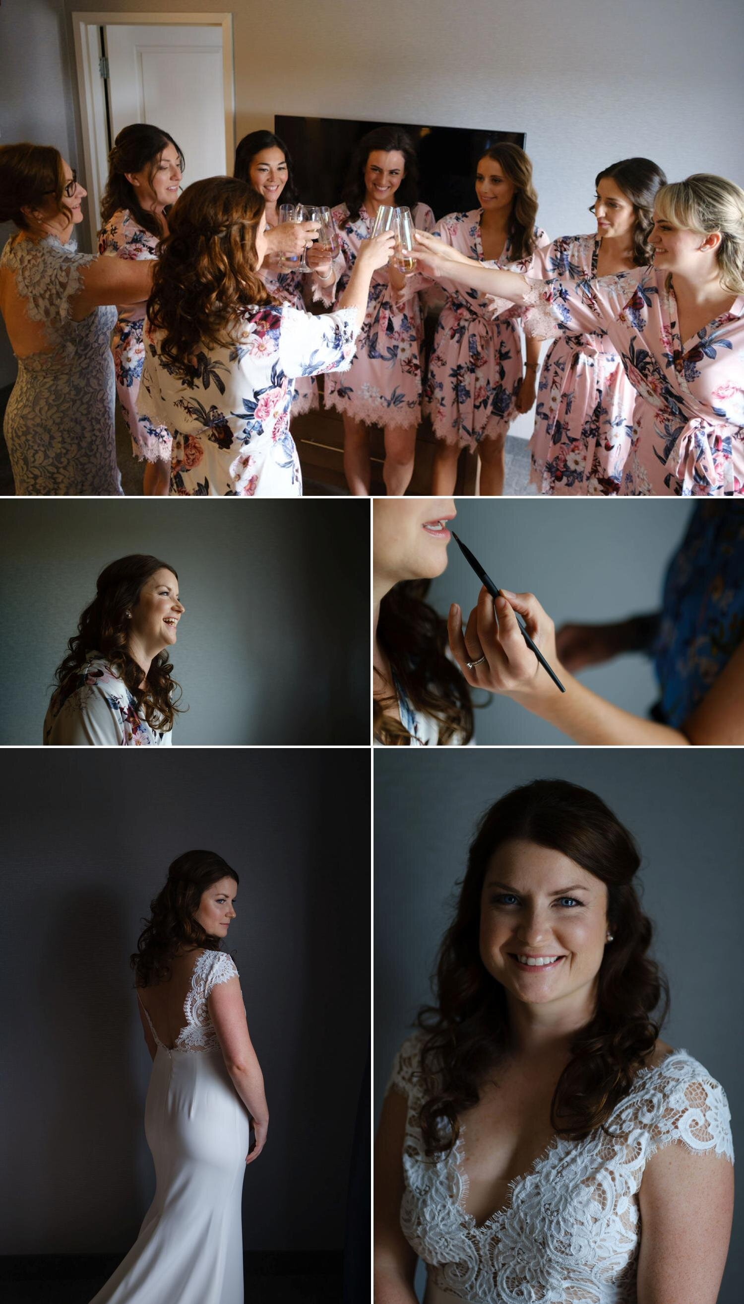natural light photos of a bride getting ready for her wedding