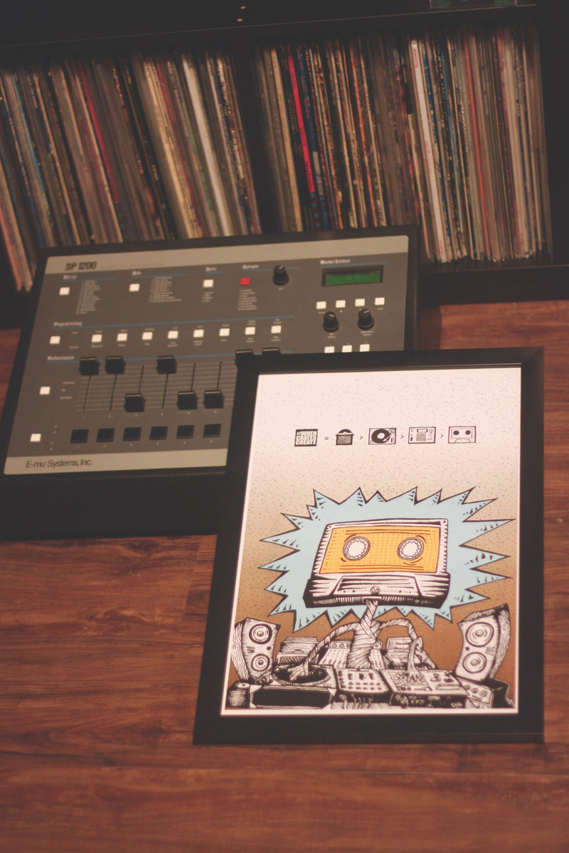 """""""When Crates Create"""" poster (frame and sp-1200 not included :)"""