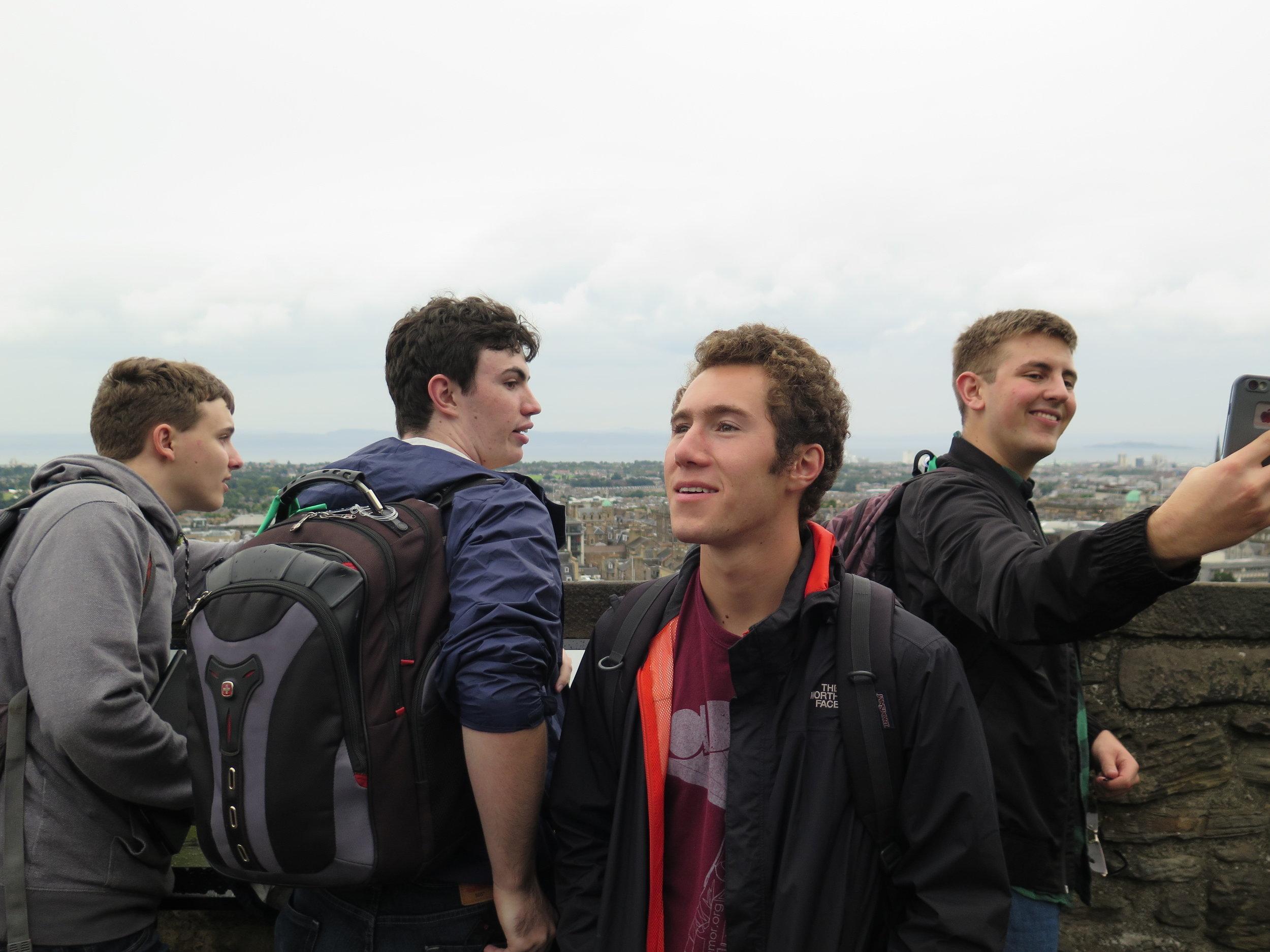 The guys enjoying the sights of Edinburgh Castle