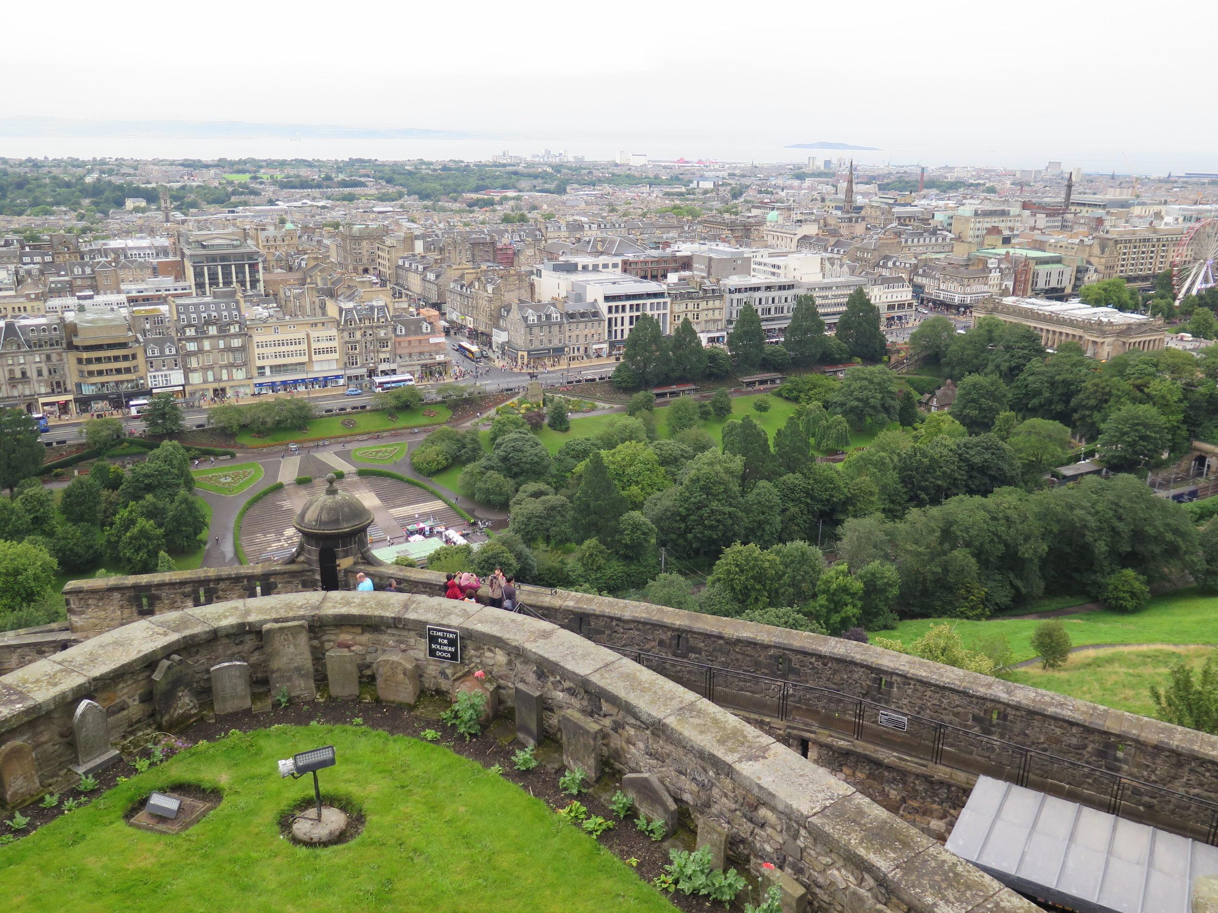 Dog cemetary in Edinburgh Castle