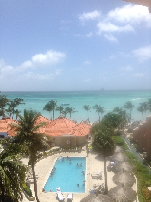 view from our room.