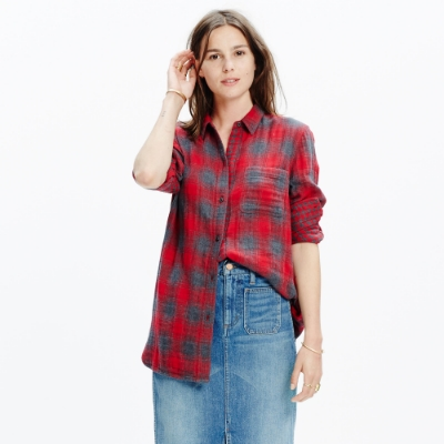 madewell ex-bf shirt