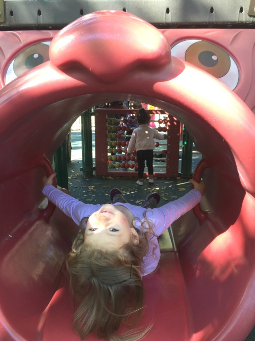 p got super adventurous on the playground!