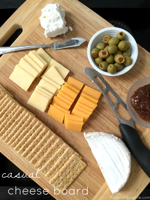 casual cheese board