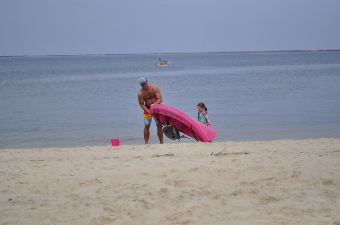 P was all about the pink kayak