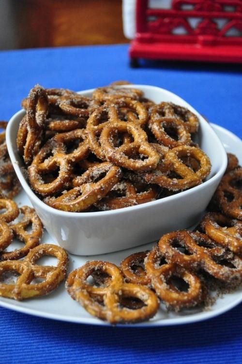 cinnamon sugar pretzels -