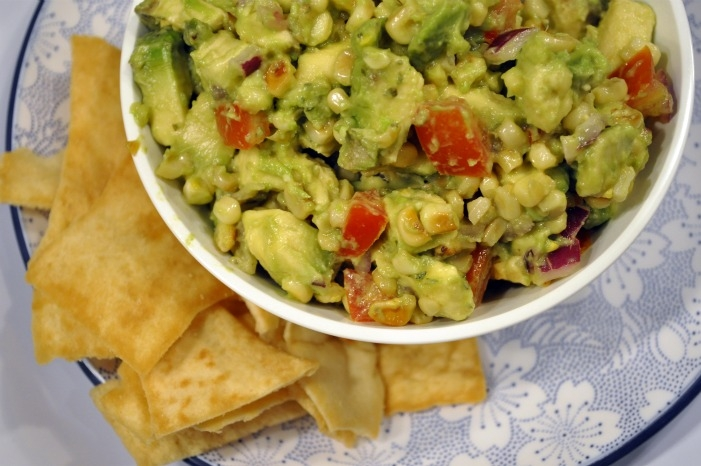 toasted corn guac -