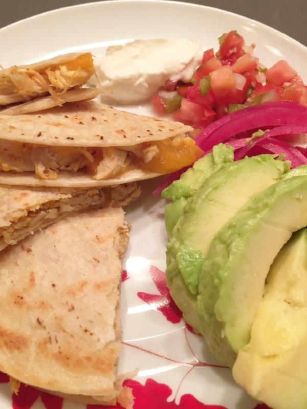simple chicken quesadillas 2