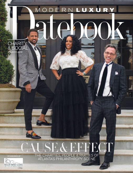 """Modern Luxury Datebook,February 2019 - """"Beautiful linens compliments of I Do Linens and classic florals by C. Wayman Floral & Events helped tie together the elegant theme."""""""