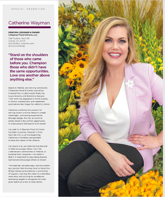 """The Atlantan's 2019 Dynamic Women of Atlanta - """"Catherine combines her passion for serving others with the desire to create meaningful, and lasting experiences through design."""""""