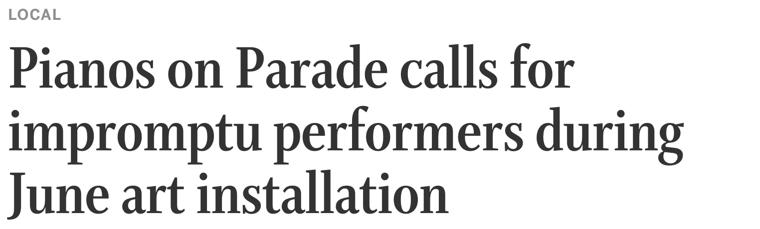 Star Tribune: Starting Wednesday, music will waft from all corners of downtown Minneapolis. (June '16)