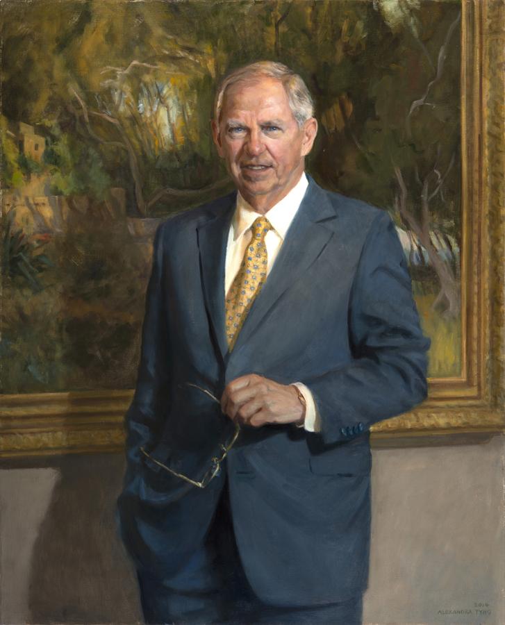 "Chuck Pennoni  ,President Drexel University, oil on linen, 42"" x 34""  Collection Drexel University, Philadelphia, PA"