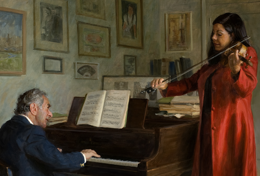 The Franks Playing Mozart   , detail