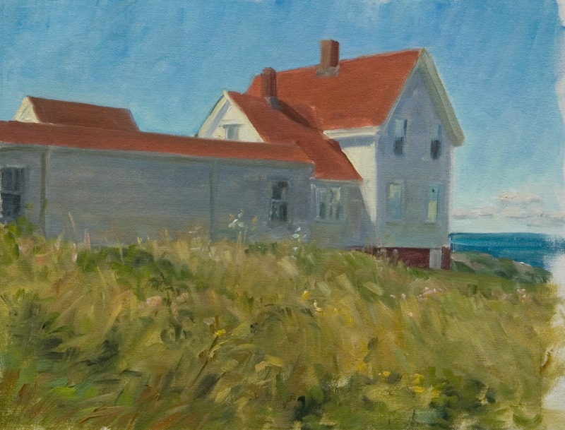 """Behind the Keeper's House   , oil on linen, 11"""" x 15"""""""