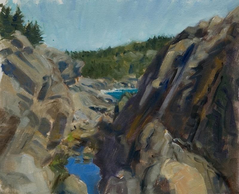 "Gull Rock Gorge   , oil on canvas, 11"" x 14"""