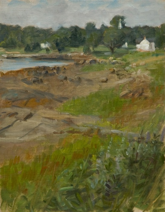 """Somesville From the Landing   , oil on canvas on board, 14"""" x 11"""""""