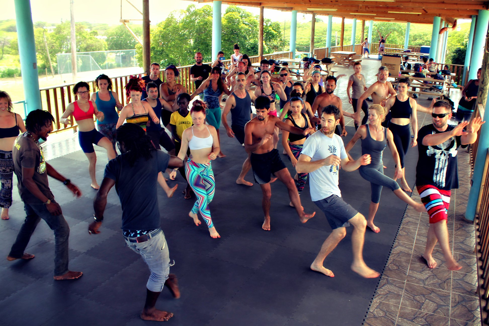 We taught the locals Acroyoga and they taught us Jamaican dancing!