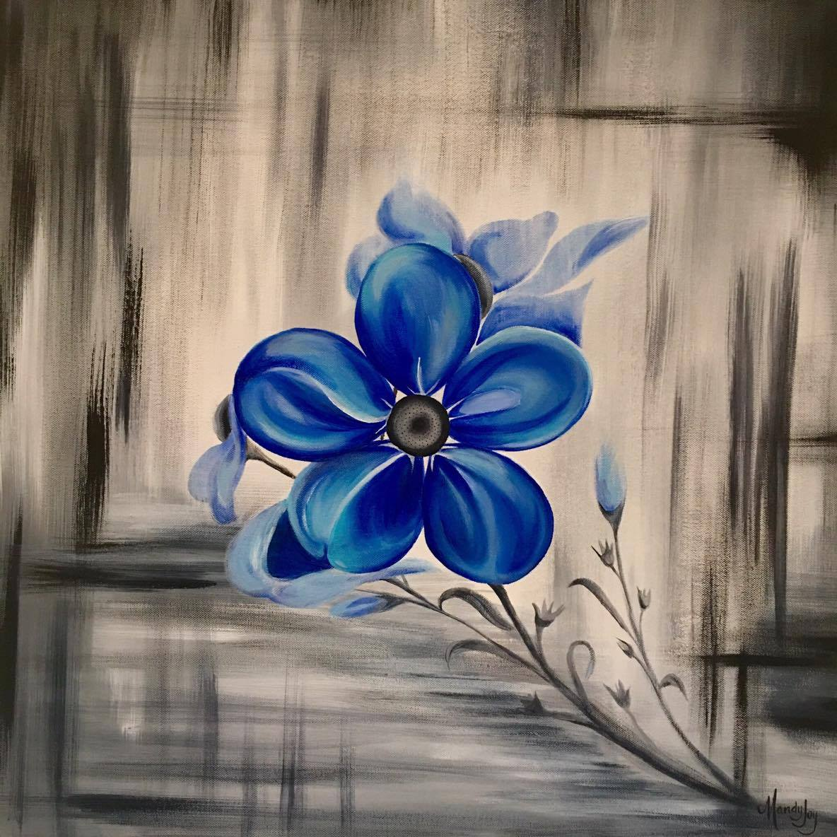 Flower painting - Remember Me - wall art - Mandy Joy