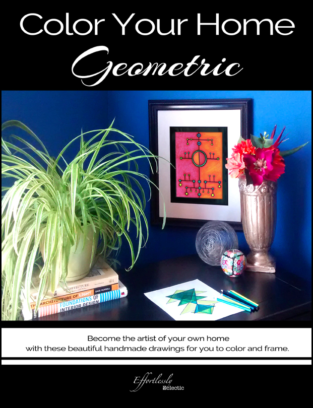 DIY home decor book / adult coloring book Color Your Home Geometric by Effortlessly Eclectic