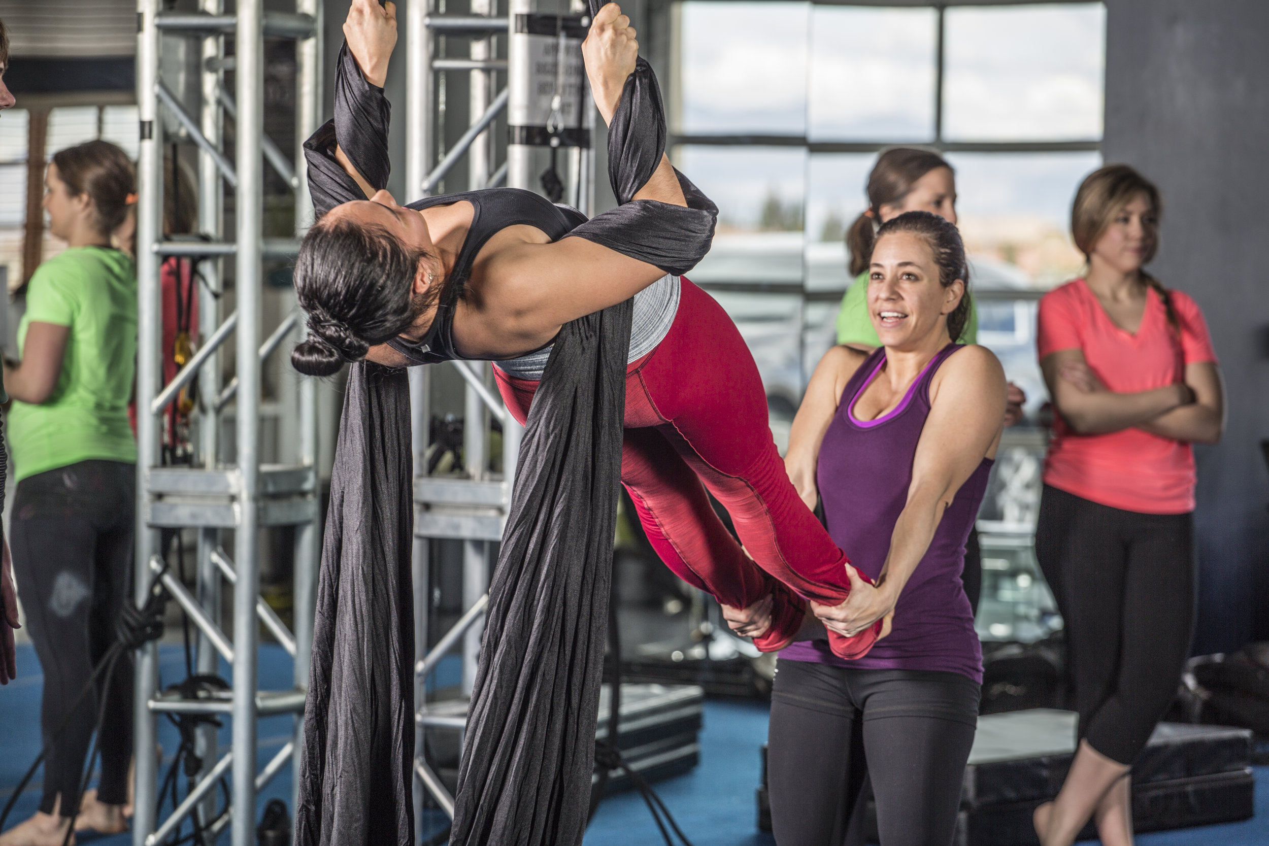 Aerial Silks - Shine Alternative Fitness - Las Vegas Nevada