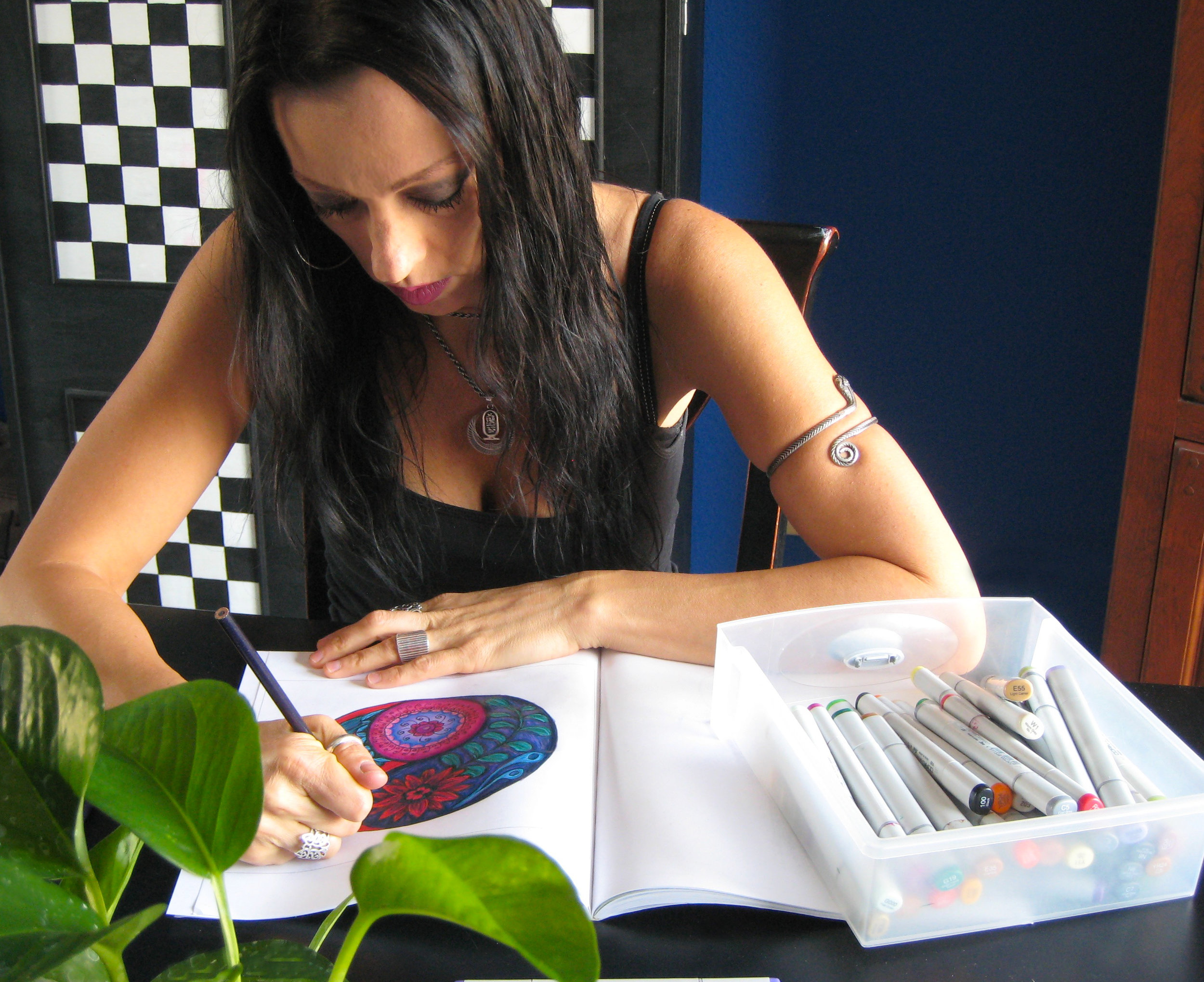 Color Your Home Bohemian Stacey coloring yin yang.jpg