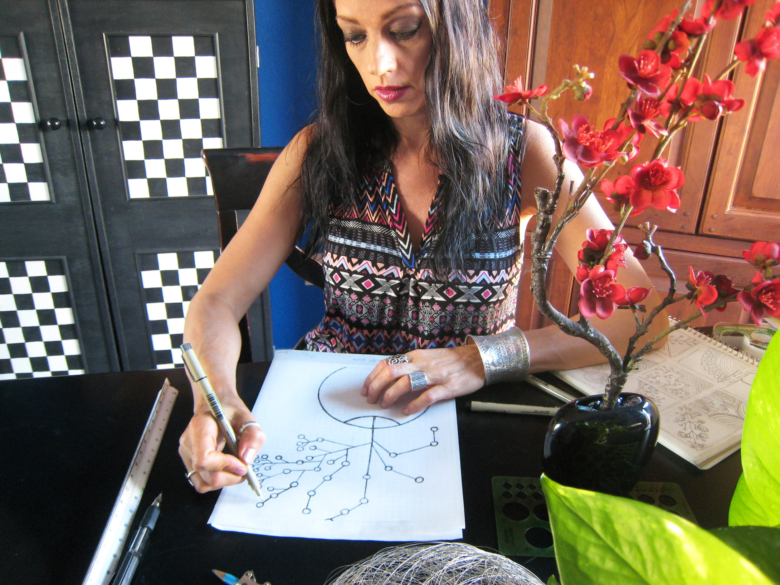 CYHGeometric Stacey drawing flowers in vase.jpg