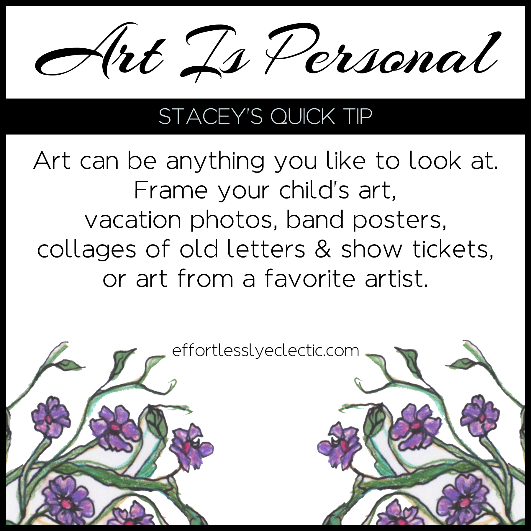 Art is Personal - A home decorating tip about how to choose art for your home
