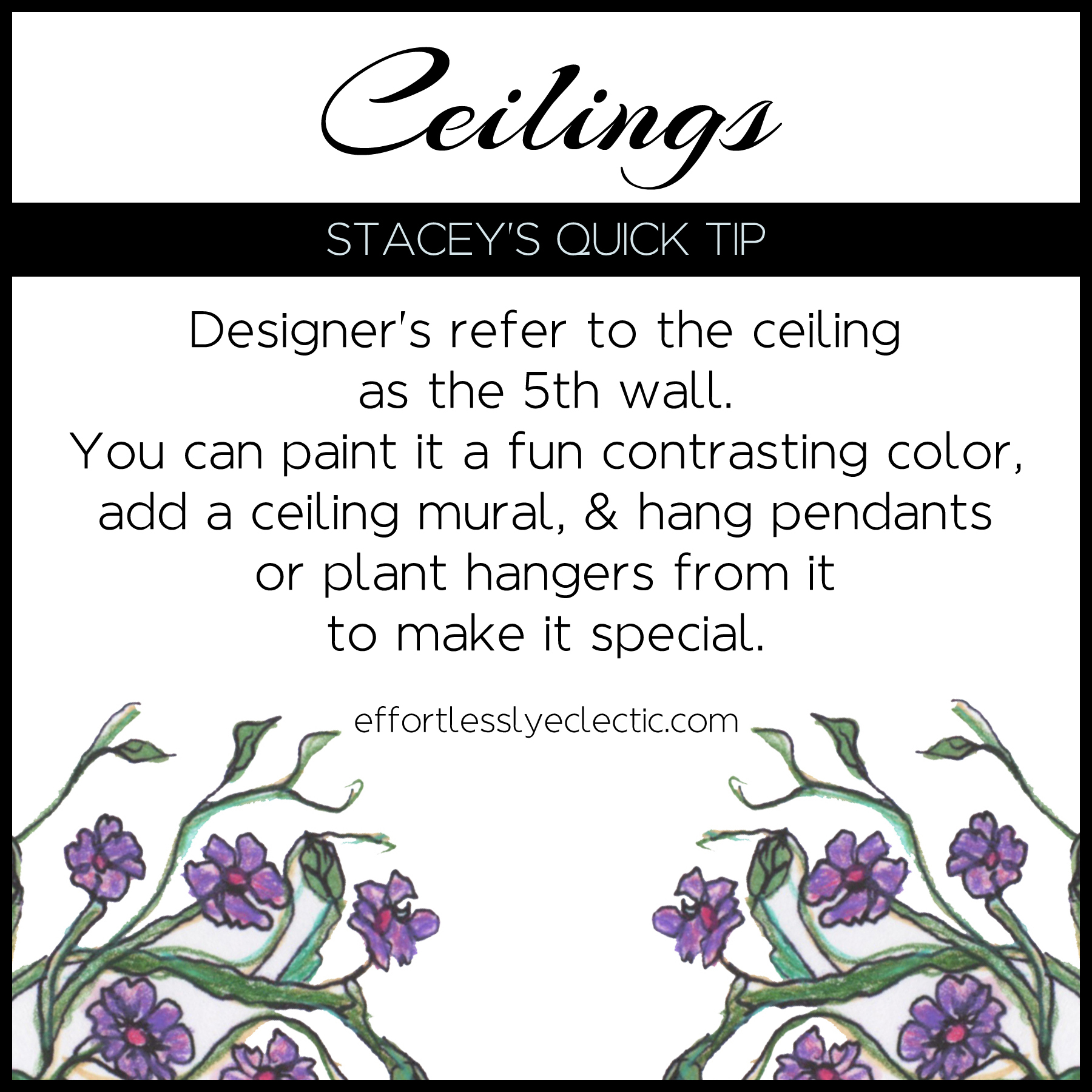 Ceilings - A home decorating tip about how to decorate ceilings