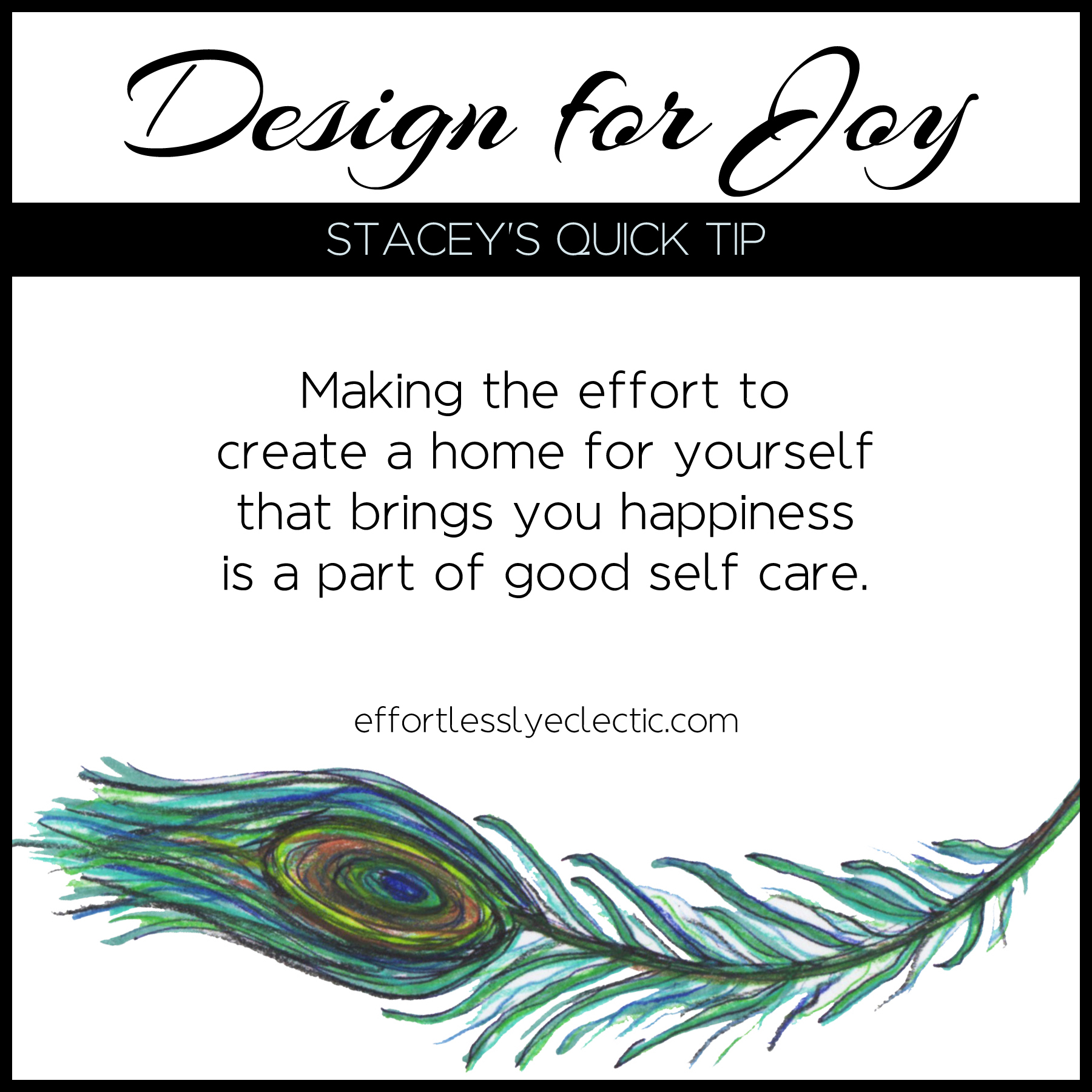 Design for Joy - A home decorating tip about the importance of a joyful home