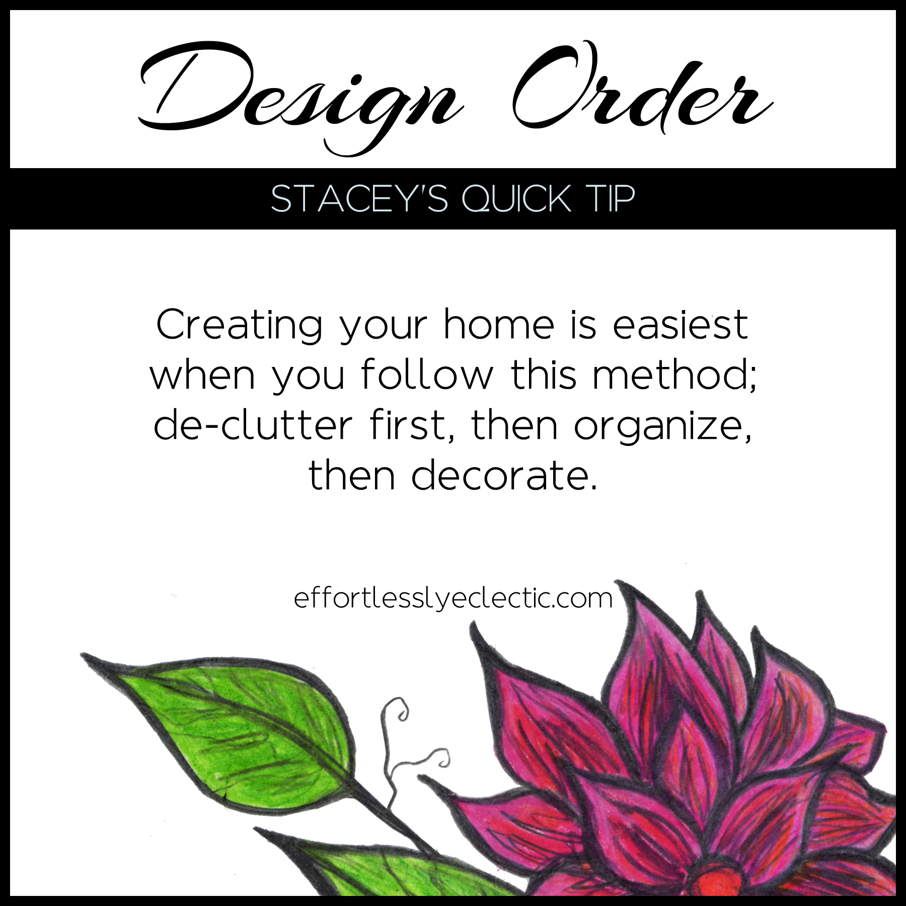 Design Order - A home decorating tip about where to start when decorating your home