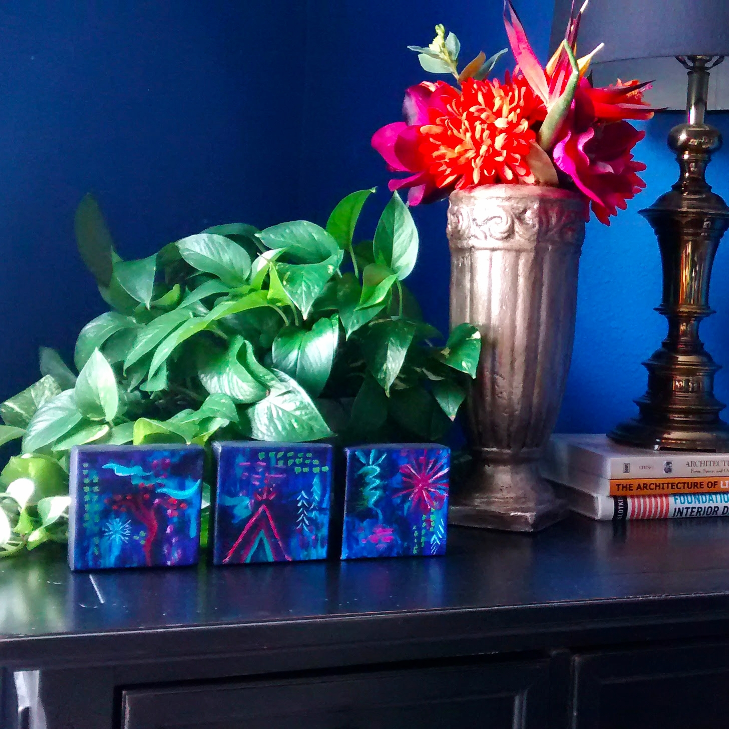 Grow Reach Shine original art by Stacey Taylor of Effortlessly Eclectic art & decor
