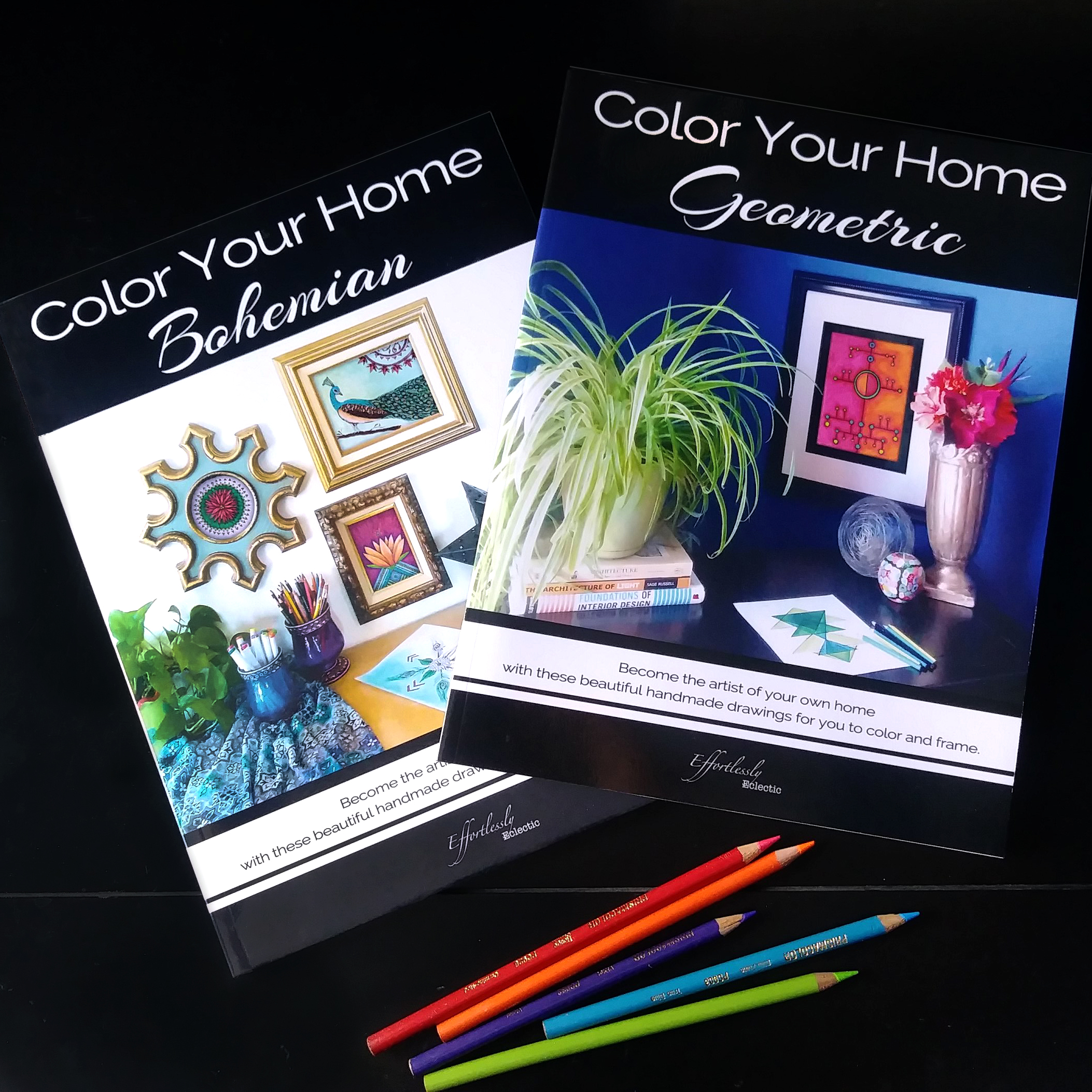 Color Your Home Bohemian and Color Your Home Geometric by Effortlessly Eclectic
