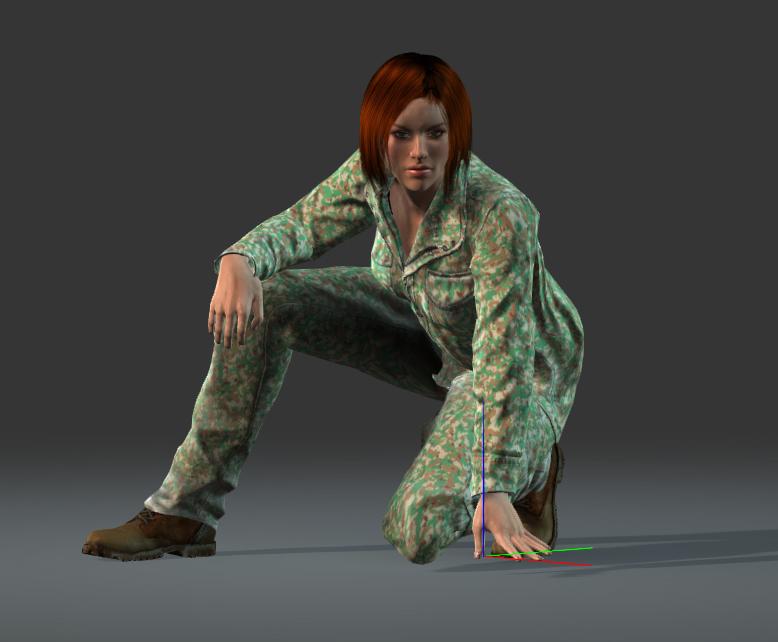 Female Commander, field: R-45, Pb-25, light battle suit, 2x grenade