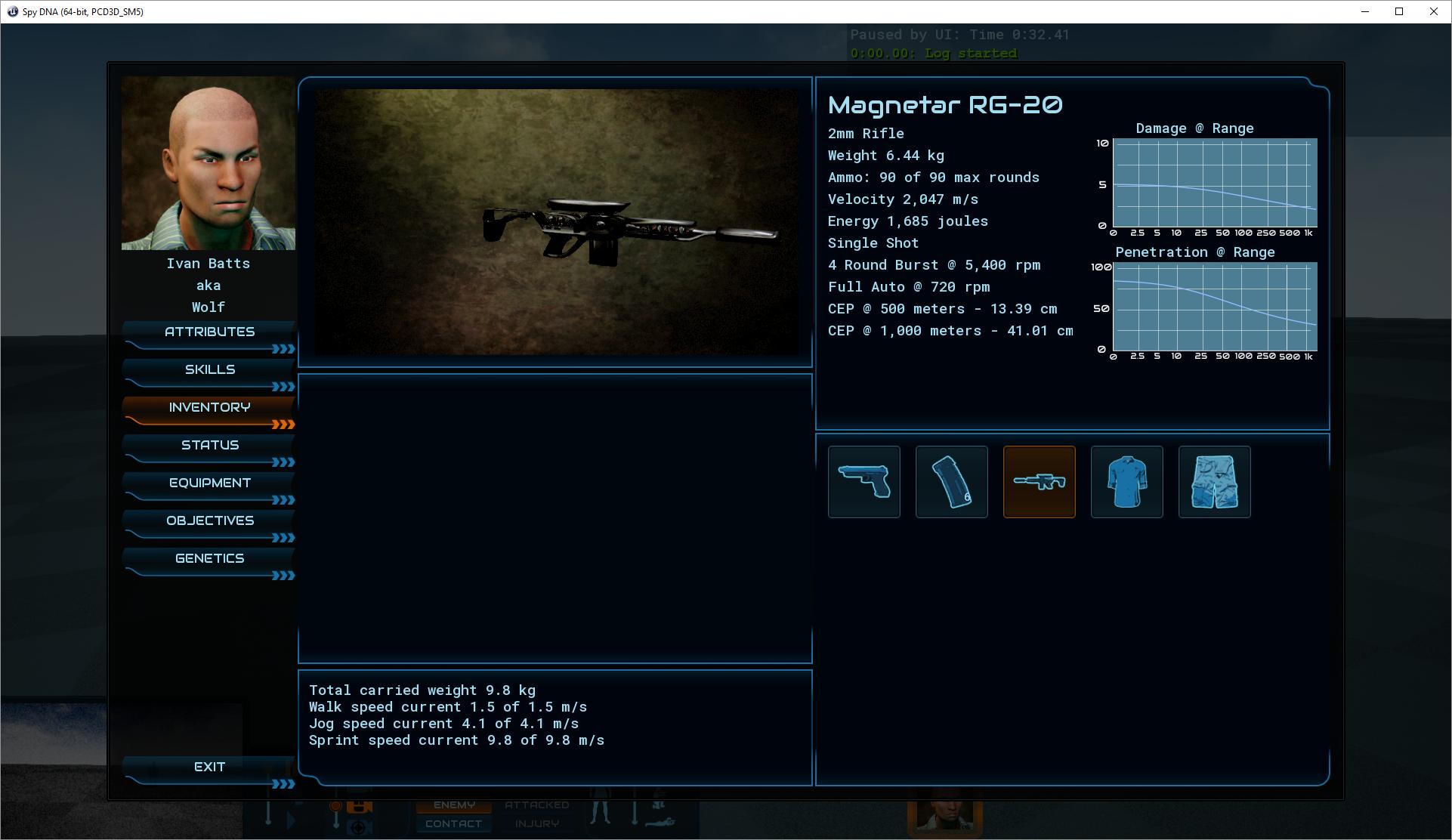 Inventory screenshot