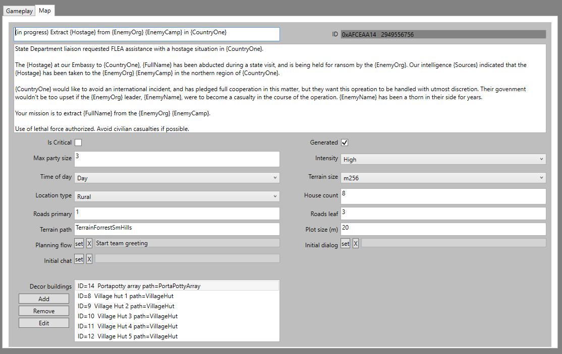 "Spy DNA mission editor ""Map"" tab screenshot"