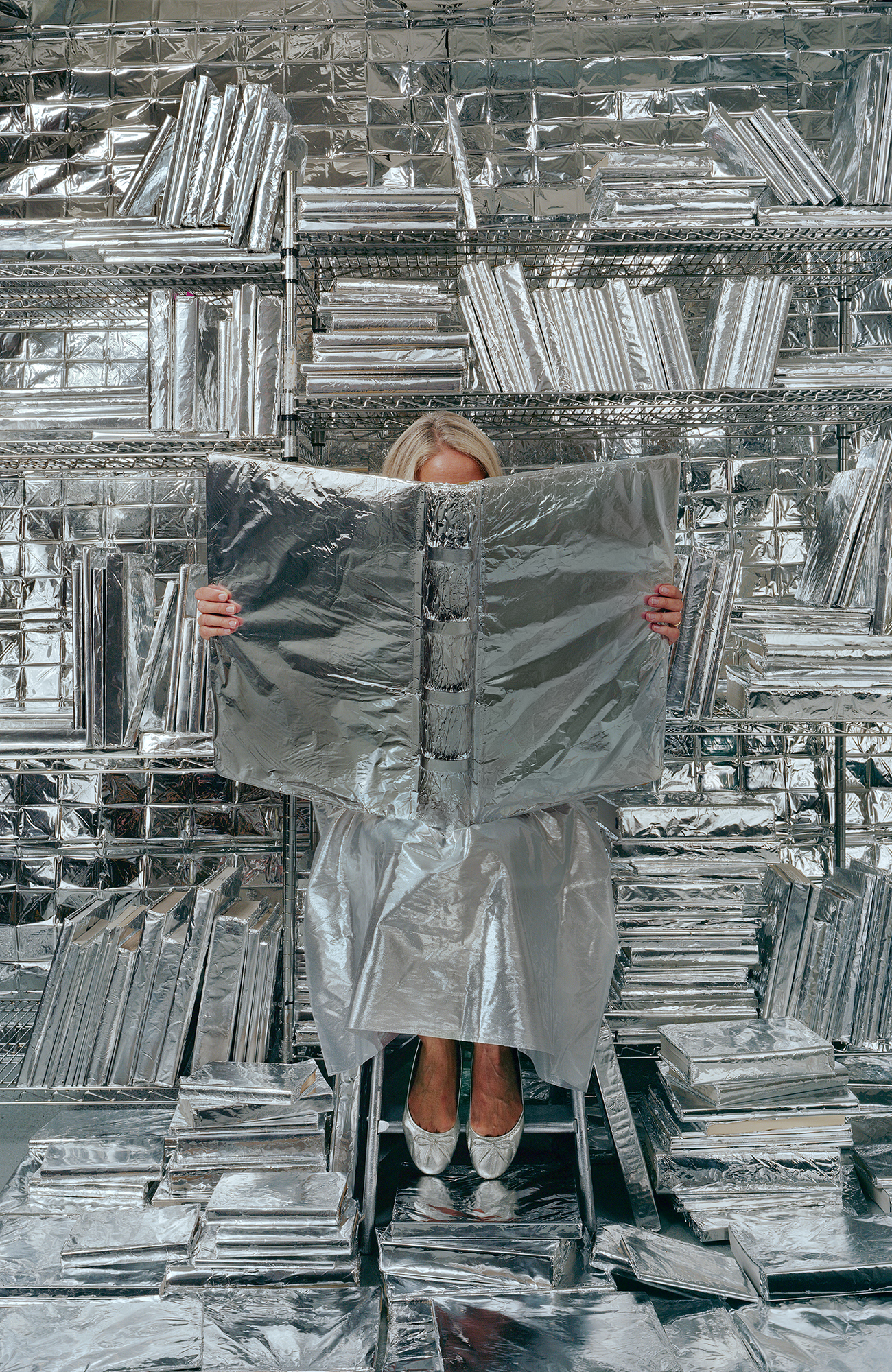 Lost in my Life (wrapped books), 2010