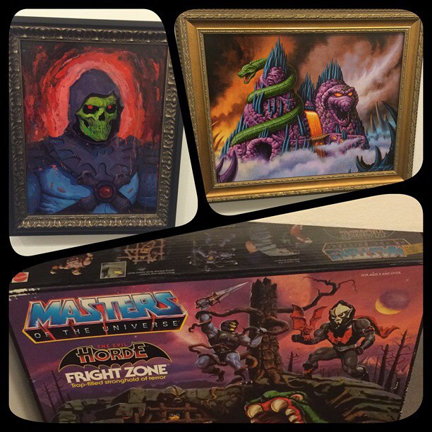 Rich Pellegrino (Top Left), Jason Edmiston (Top Right) Vintage toys provided by Mattel (Bottom)