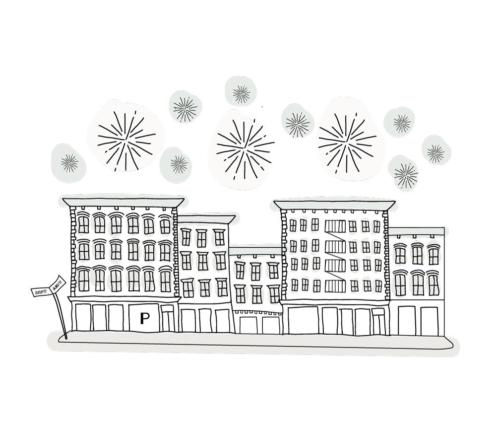 Custom illustration for New York store opening