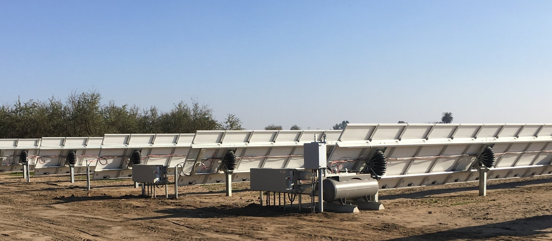 Completed AirDrive and module installation at a project site in Visalia, CA