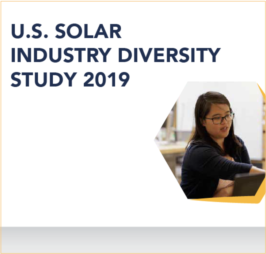 The Solar Foundation and SEIA's 2019 Diversity Study - IN THE NEWSThe 2019 U.S. Solar Industry Diversity Study provides a data-driven path forward to create a stronger, more diverse solar industry. It also profiles two members of the Sunfolding team. Read the study to find out who.