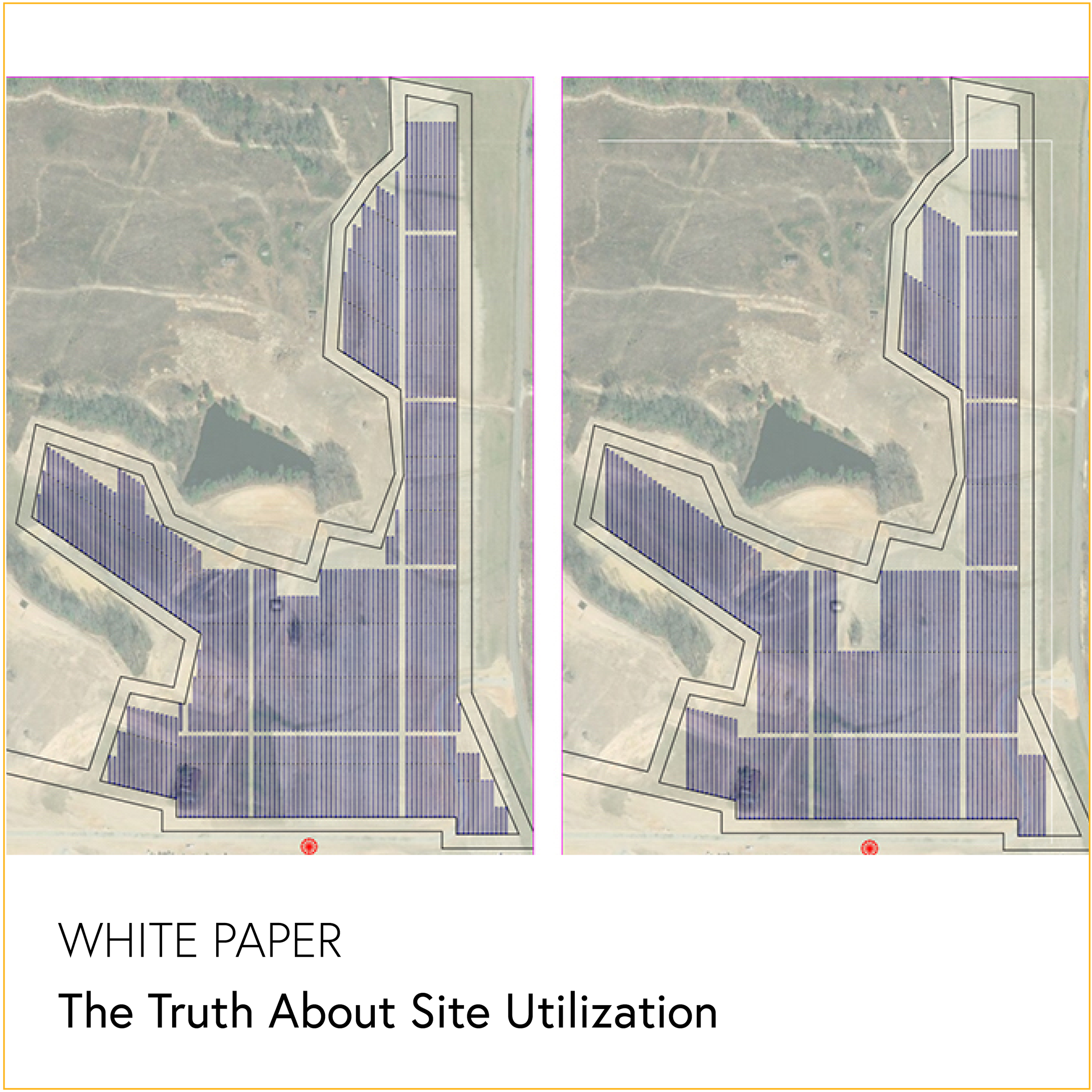 """The Truth About Site Utilization - WHITE PAPERSolar projects with the best site utilization can maximize profit margin. But how do you calculate site use?Download """"The Truth About Site Utilization"""" to learn about three design criteria that impact the optimal use of your project site."""