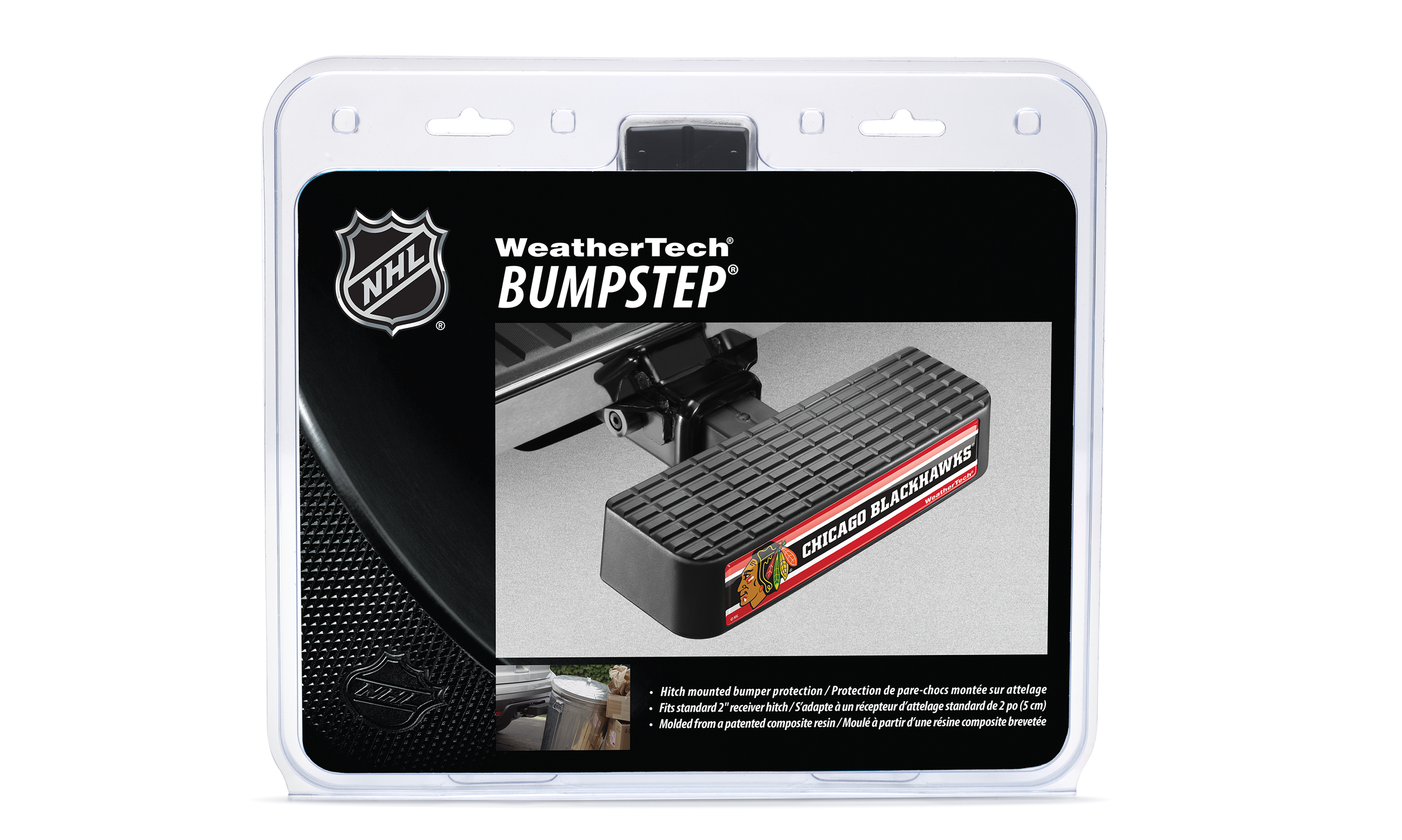 Front of packaging for NHL licensed WeatherTech BumpStep